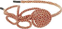 Духи, Парфюмерия, косметика Обруч-шнур для волос, красно-золотой - Элита