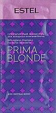 Духи, Парфюмерия, косметика Серебристый шампунь для холодных оттенков блонд - Estel Professional Prima Blonde Shampoo (пробник)