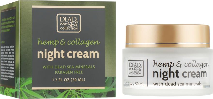 Ночной крем с экстрактом конопли, коллагеном и минералами Мертвого моря - Dead Sea Collection Hemp & Collagen Night Cream