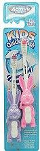 Духи, Парфюмерия, косметика Зубная щетка детская, 3-6 лет, фиолетовая + розовая - Beauty Formulas Active Oral Care