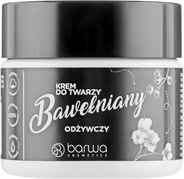 Крем для лица с хлопком - Barwa Natural Face Cream Cotton