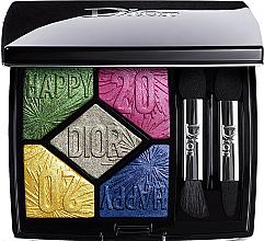 Духи, Парфюмерия, косметика Палетка теней для век, лимитированная коллекция - Dior 5 Couleurs Happy 2020 (тестер)