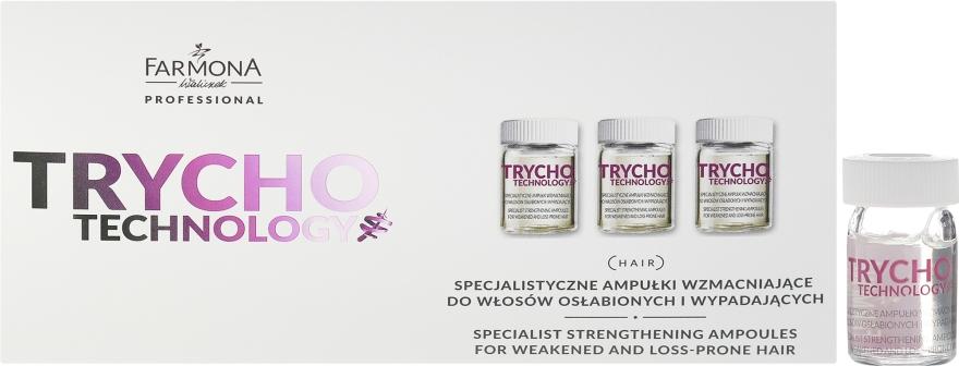 Специализированные укрепляющие ампулы для ослабленных и выпадающих волос - Farmona Professional Trycho Technology Specialist Strengthening Ampoules For Weakened And Loss-Prone Hair