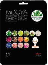 Духи, Парфюмерия, косметика Маска + сыворотка с экстрактом Алоэ - Beauty Face Mooya Bio Organic Treatment Mask + Serum