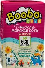 Духи, Парфюмерия, косметика Детская морская соль с натуральными экстрактами ромашки и вербены - Booba Kids