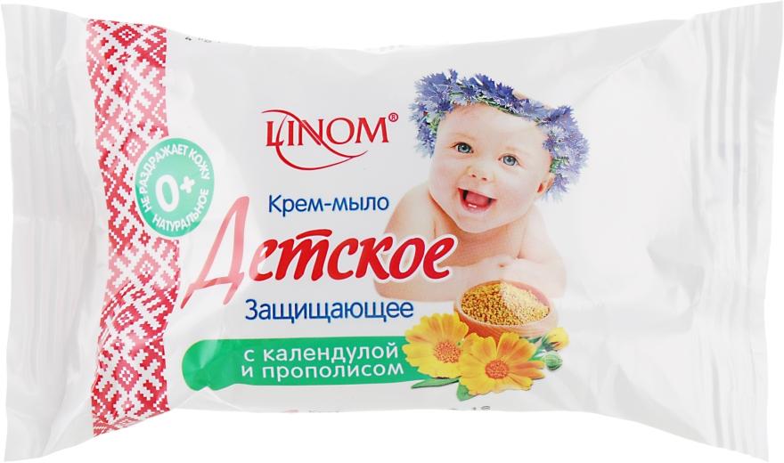 """Крем-мыло """"Детское"""" защищающее с экстрактами календулы и прополиса - Linom"""