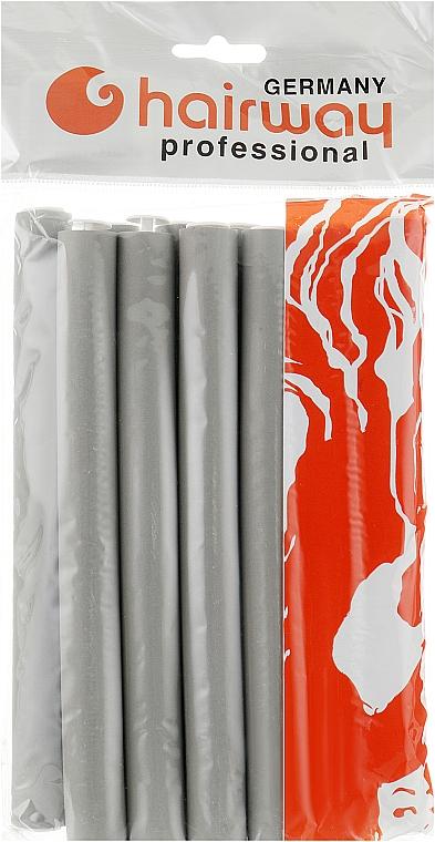 Гибкие бигуди длина 180мм d19, серые - Hairway Flex-Curler Flex Roller 18cm Grey