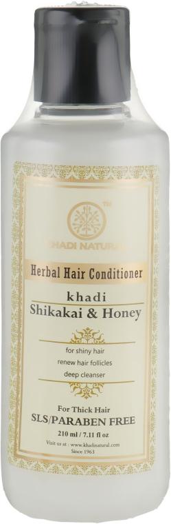 """Натуральный травяной кондиционер для волос """"Шикакаи и Мёд"""" без SLS - Khadi Natural Shikakai & Honey Hair Conditioner"""