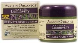 """Духи, Парфюмерия, косметика Крем глубокого увлажнения """"Лаванда"""" - Avalon Organics Lavender Luminosity Ultimate Night Cream"""