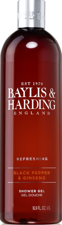Гель для душа - Baylis & Harding Black Pepper & Ginseng Shower Gel