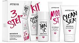 Духи, Парфюмерия, косметика Набор - Artemis of Switzerland Skinlove 3 Step Daily Routine Kit (face/gel/30ml+face/tonic/30ml+gel/cr/20ml)