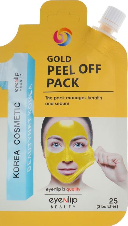 Маска-пленка очищающая для лица - Eyenlip Gold Peel Off Pack