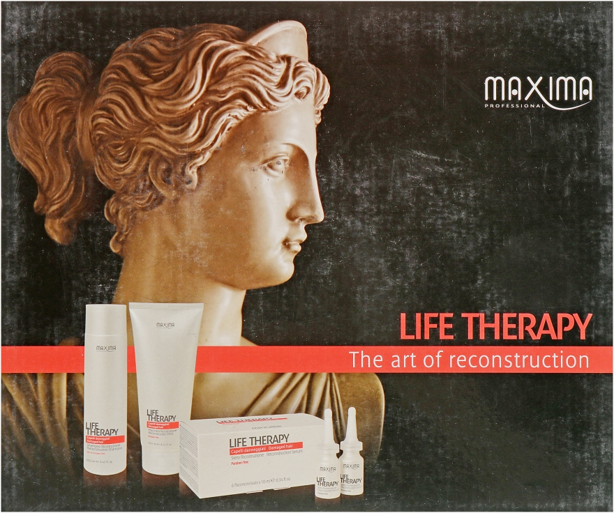 Набор - Maxima Life Therapy (mask/250ml + shmp/250ml + serum/6x12ml)