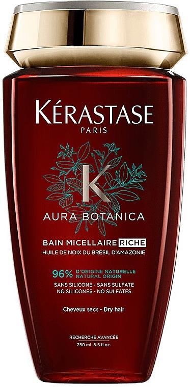 Мицеллярный шампунь-ванна для очень сухих, тусклых и ослабленных волос - Kerastase Aura Botanica Bain Micellai Riche