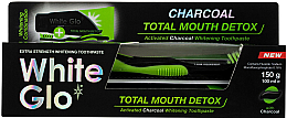 Духи, Парфюмерия, косметика Набор - White Glo Charcoal Total Mouth Detox (toothpaste/150g + toothbrush)