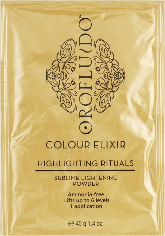 Безаммиачная осветляющая пудра - Orofluido Sublime Lightening Powder