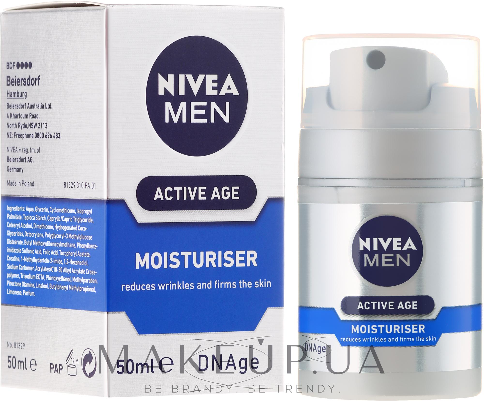 Крем против старения кожи - Nivea For Men Aktive Age Moisturiser Cream — фото 50ml