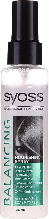 Питательный спрей для волос - Syoss Balancing Spray