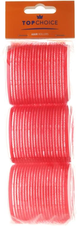 "Бигуди-липучки для волос ""Velcro"" диаметр 60мм, 3шт, 0607, красные - Top Choice"