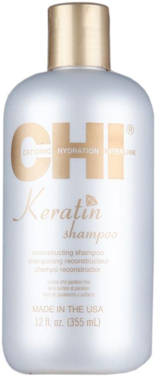 Восстанавливающий кератиновый шампунь - CHI Keratin Reconstructing Shampoo — фото N4
