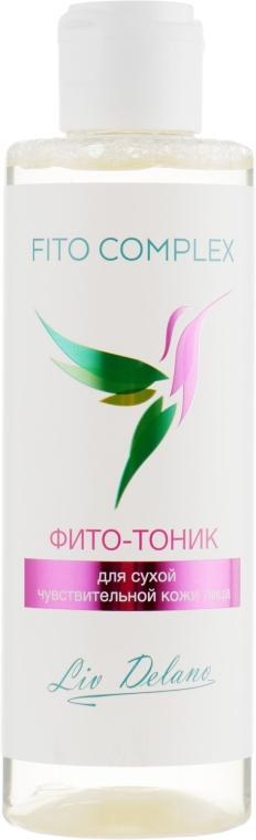 Фито-тоник для сухой чувствительной кожи лица - Liv Delano Fito complex