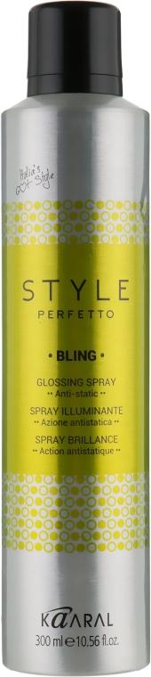 Спрей-захист від кучерявості і для додання блиску - Kaaral Style Perfetto Bling Glossing Spray — фото N1