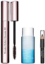 Духи, Парфюмерия, косметика Набор - Clarins (mascara/8ml + makeup/remover/30ml + eye/pencil/0.39g)