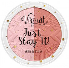 Духи, Парфюмерия, косметика Румяна-хайлайтер для лица - Virtual Just Slay It! Shine & Blush