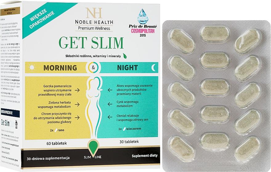 Комплекс для похудения, 90шт - Noble Health Get Slim Morning & Night