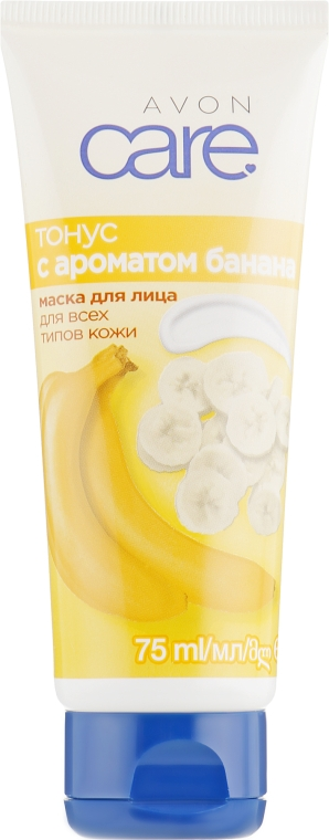 Маска для лица с ароматом банана «Тонус» - Avon Care Face Mask Revitalising With Banana