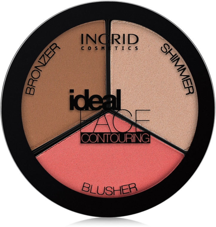 Палетка для контурирования лица - Ingrid Cosmetics Ideal Face Contouring