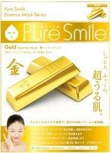 Духи, Парфюмерия, косметика Тканевая маска для лица с золотом - Pure Smile Essence Mask Series Gold