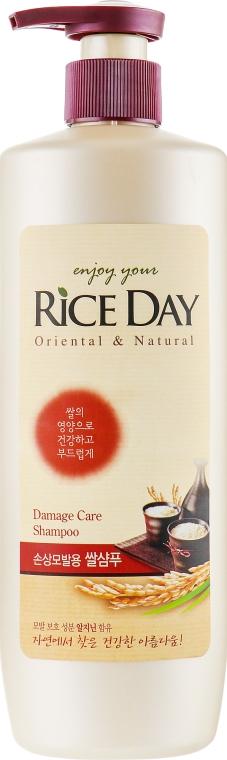 Шампунь для поврежденных волос увлажняющий - Lion Rice Day Shampoo