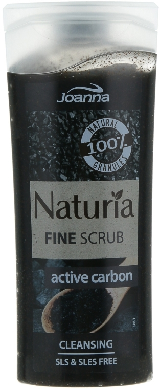 "Пилинг для душа ""Активный углерод"" - Joanna Naturia Washing Peeling Natural Active Carbon"