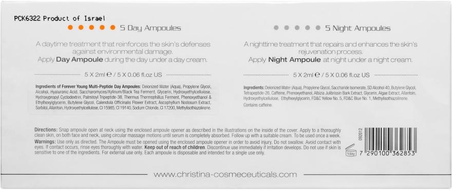 Мультіпептидні ампули (5 денних і 5 нічних) - Christina Forever Young Multi-Peptide Fusion Ampoules — фото N3
