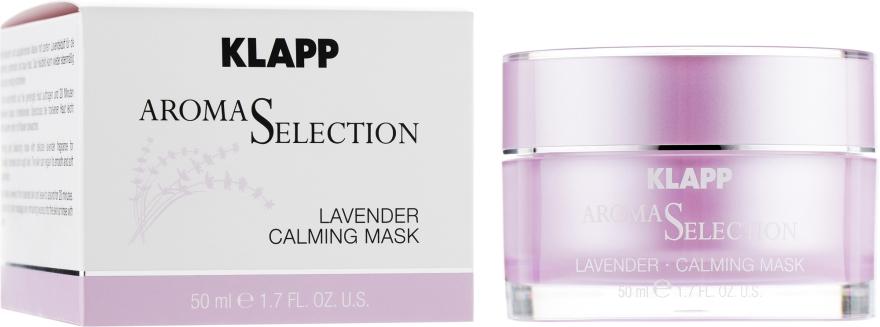 "Крем-маска ""Лаванда Антистресс"" - Klapp Aroma Selection Lavender Calming Mask"