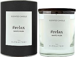 "Духи, Парфюмерия, косметика Ароматическая свеча ""Белый мускус"" - Ambientair The Olphactory Relax White Musk Black Design"