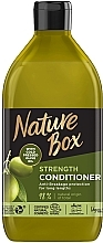 Духи, Парфюмерия, косметика Бальзам для укрепления длинных волос и противодействия ломкости с оливковым маслом холодного отжима - Nature Box Strength Vegan Conditioner With Cold Pressed Olive Oil