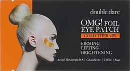 Духи, Парфюмерия, косметика Патчи для зоны вокруг глаз - Double Dare OMG! Foil Eye Patch Gold Treatment