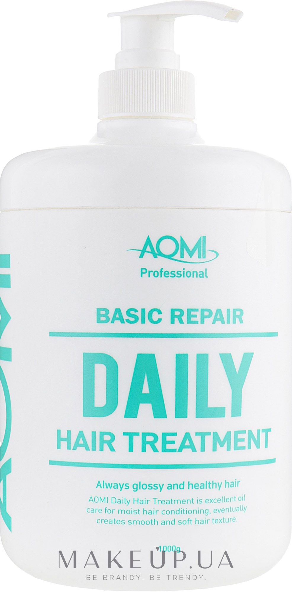 Маска для волос с экстрактом зеленого чая и алоэ вера - AOMI Basic Repair Daily Treatment — фото 1000ml