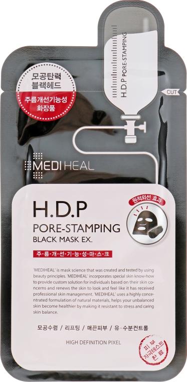 Тканевая маска - Mediheal H.D.P. Pore-Stamping Black Mask EX