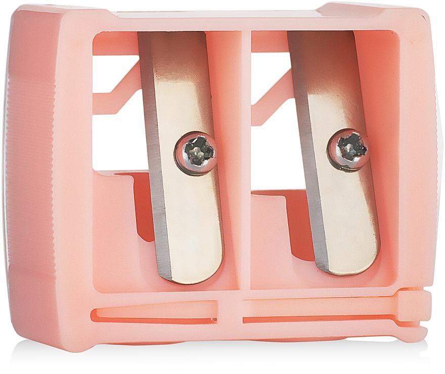 Точилка косметическая двойная 9198, розовая - SPL