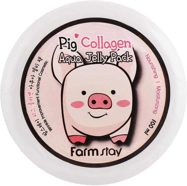 Ночная увлажняющая маска со свинным коллагеном - FarmStay Pig Collagen Aqua Jelly Pack