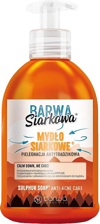 Антибактериальное жидкое серное мыло - Barwa Anti-Acne Antibacterial Soap