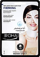Духи, Парфюмерия, косметика Маска для лица - Iroha Nature Firming Pearl 100% Cotton Face & Neck Mask