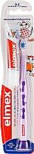 Духи, Парфюмерия, косметика Детский набор с фиолетовой щеткой - Elmex (tbrush + tpaste/12 ml)