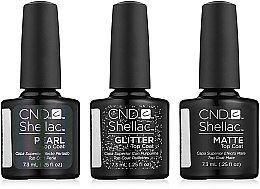 Духи, Парфюмерия, косметика Набор - CND Shellac Alluring Trilogy The Top Coat Collection