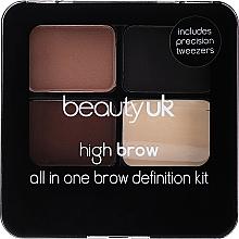 Духи, Парфюмерия, косметика Набор для моделирования бровей - Beauty UK High Brow and Eyebrow Kit