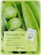 Духи, Парфюмерия, косметика Тканевая маска с экстрактом бобов - Tony Moly Pureness 100 Placenta Mask Sheet