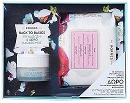 Духи, Парфюмерия, косметика Набор для жирной и комбинированой кожи - Korres Almond Blossom (cr/40ml + wipes/25pc)